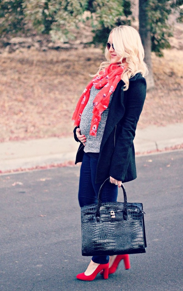 Pregnant Fashion Winter Outfits14