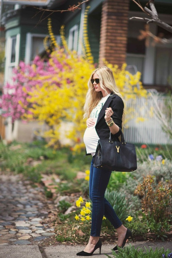 Pregnant Fashion Winter Outfits17