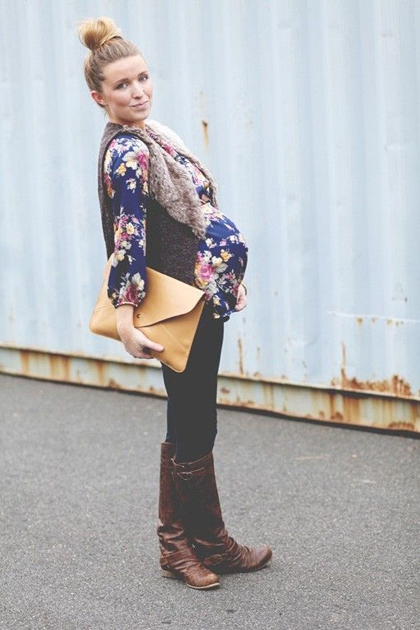 Pregnant Fashion Winter Outfits20