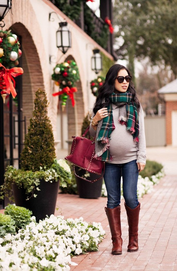 Pregnant Fashion Winter Outfits22