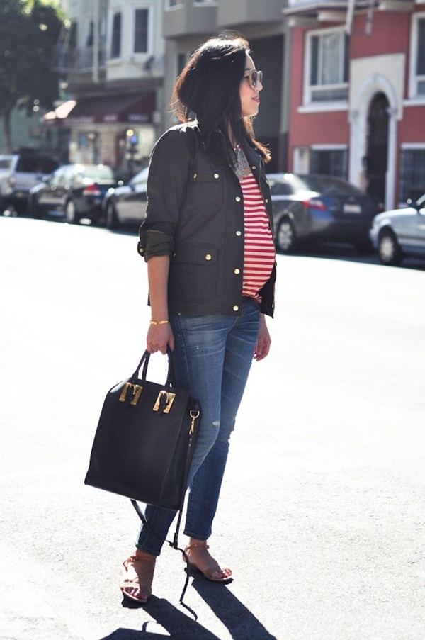 Pregnant Fashion Winter Outfits31