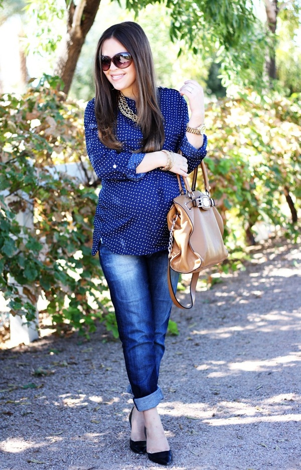 Pregnant Fashion Winter Outfits32