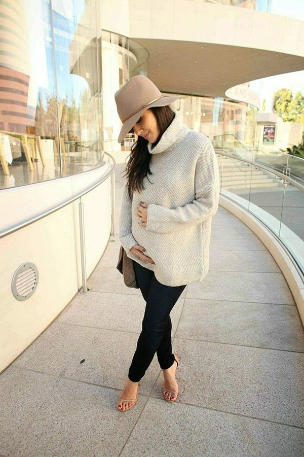 Pregnant Fashion Winter Outfits36