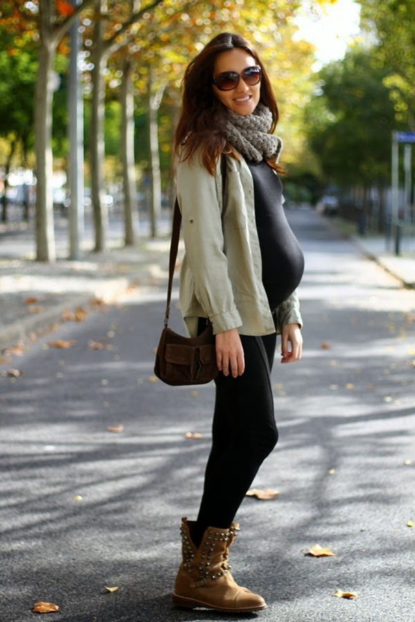 Pregnant Fashion Winter Outfits4