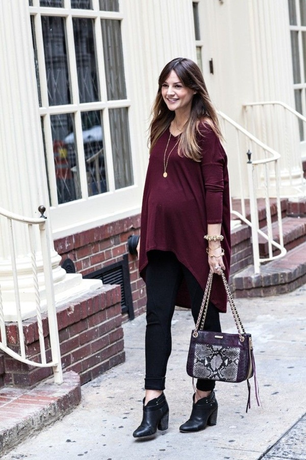 Pregnant Fashion Winter Outfits40