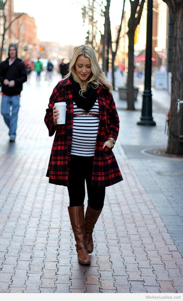 Pregnant Fashion Winter Outfits41