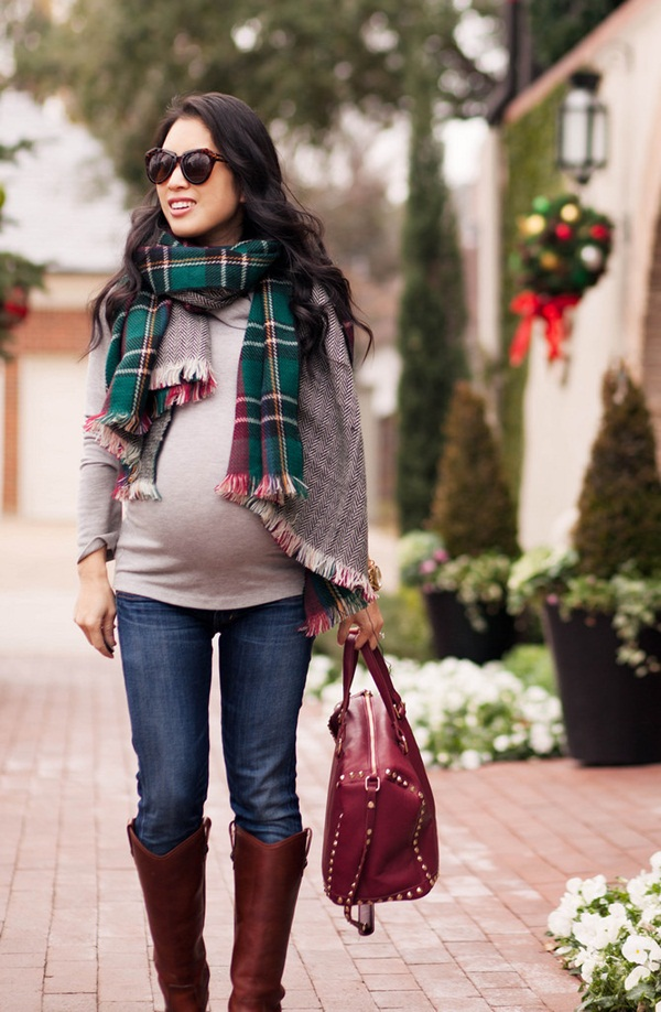 Pregnant Fashion Winter Outfits42
