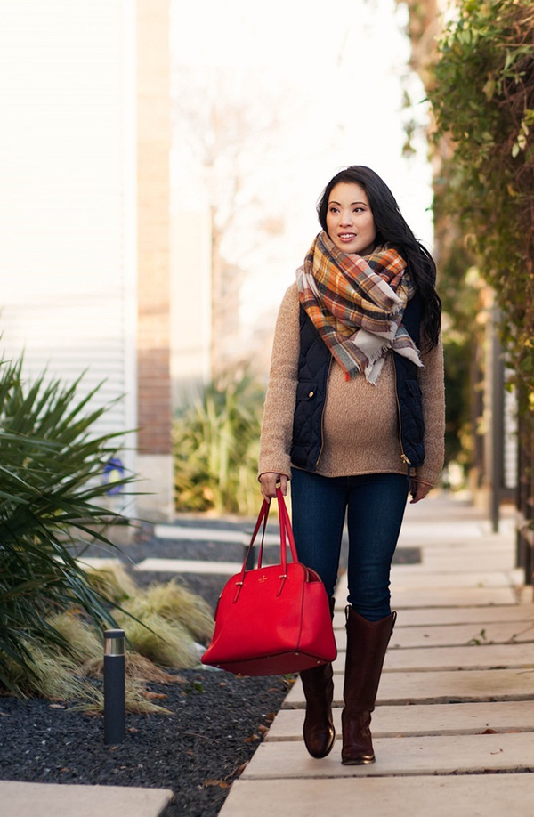 Pregnant Fashion Winter Outfits43