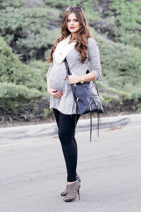 Pregnant Fashion Winter Outfits44