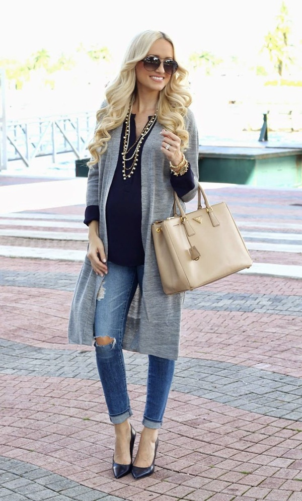 Pregnant Fashion Winter Outfits5