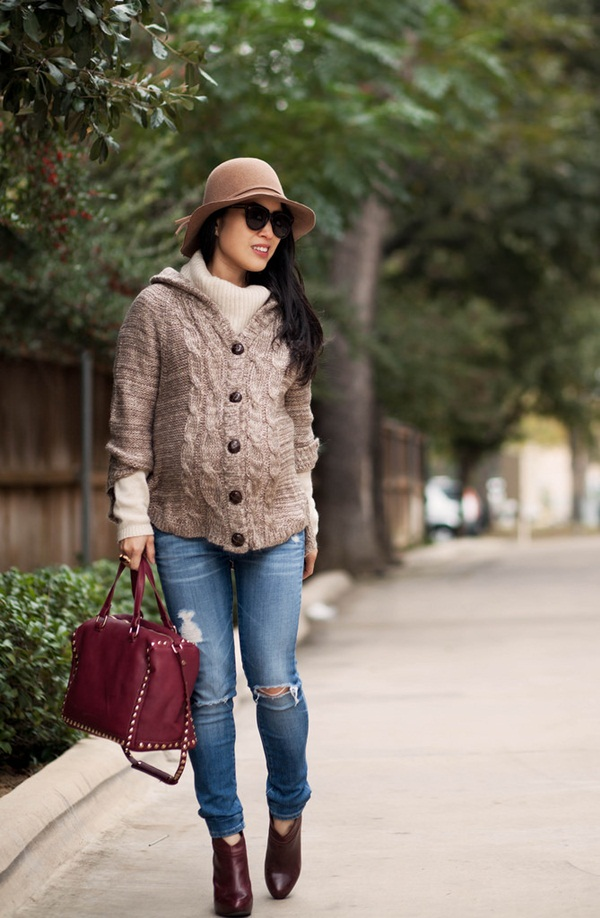 Pregnant Fashion Winter Outfits6