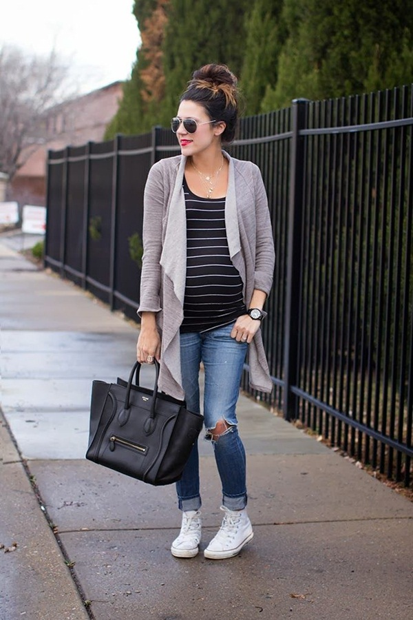 Pregnant Fashion Winter Outfits8