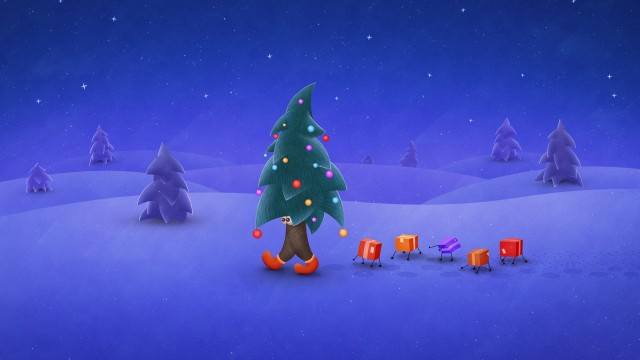 beautiful Christmas tree wallpaper (24)