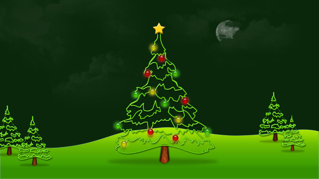 beautiful Christmas tree wallpaper (27)