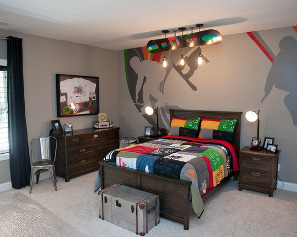 45 creative teen boy bedroom ideas cartoon district for Boys sports bedroom ideas