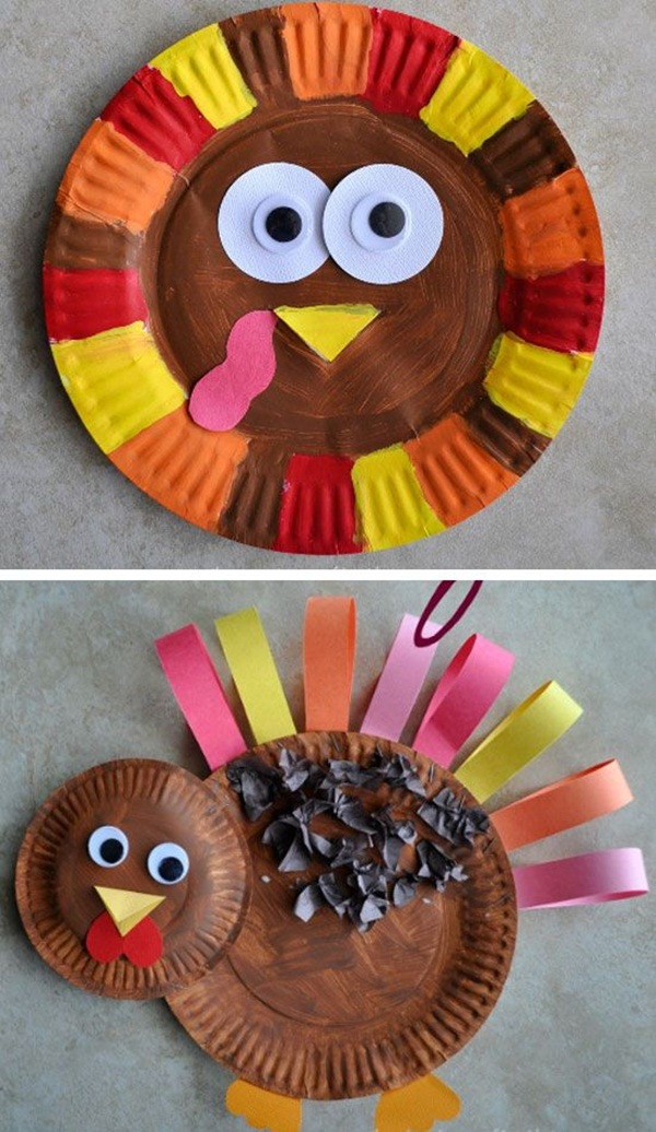 35 easy thanksgiving crafts for kids to try