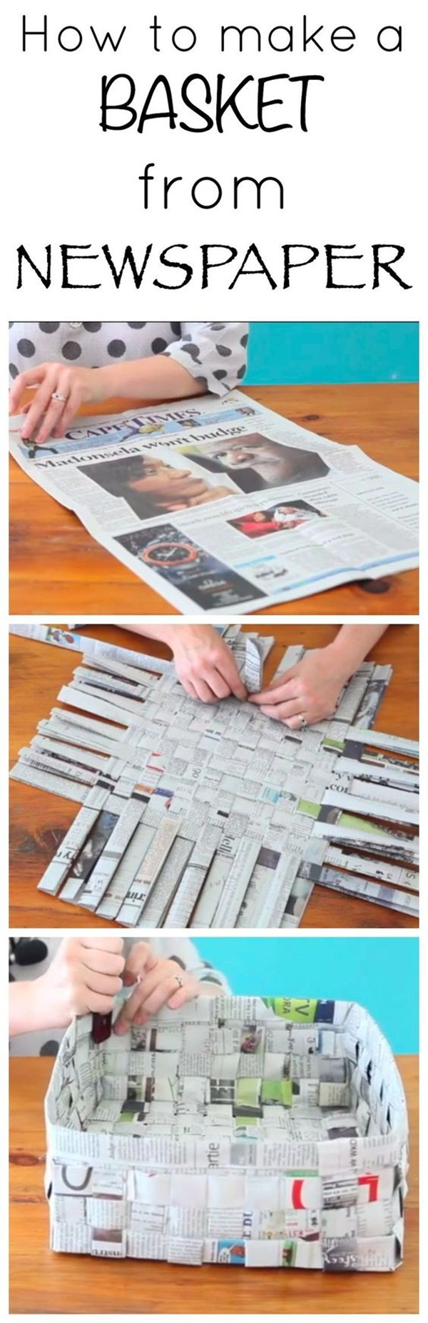 how to make newspaper paper