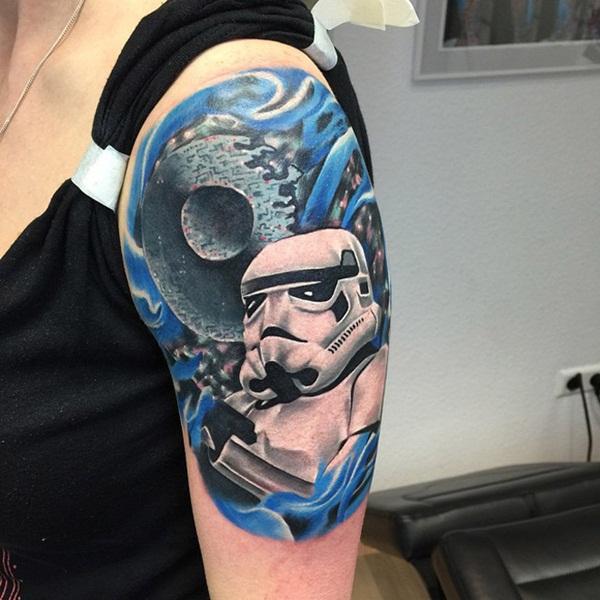 Death Star Tattoo Small: 45 Best Star Wars Tattoo Designs In 2017
