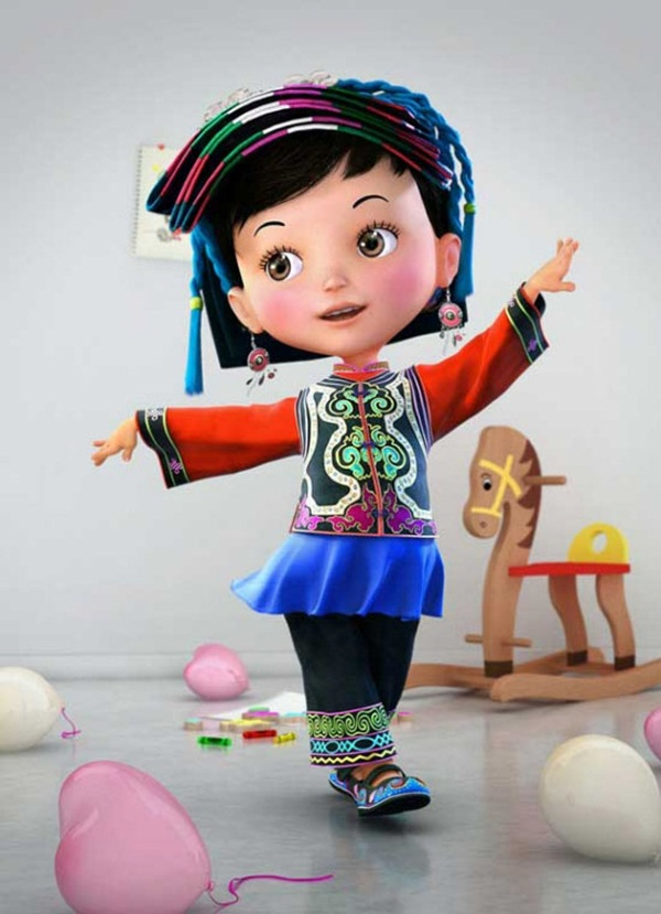 Cute Girl Cartoon Characters 1