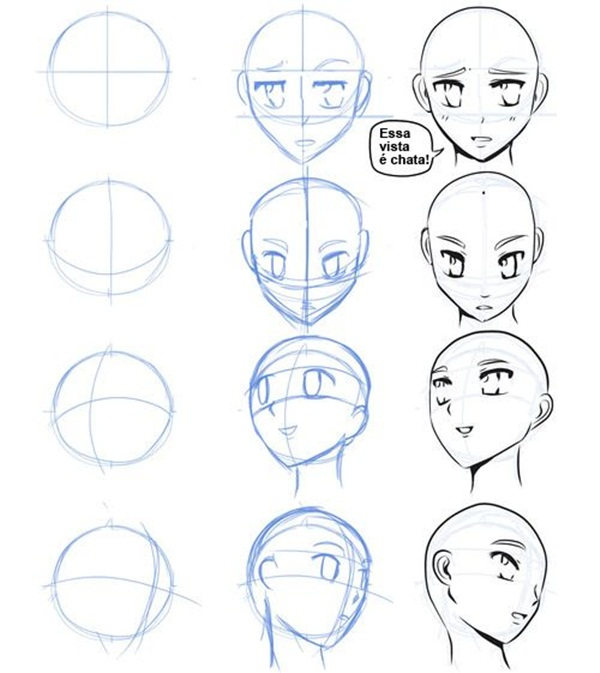 how to draw anime characters body