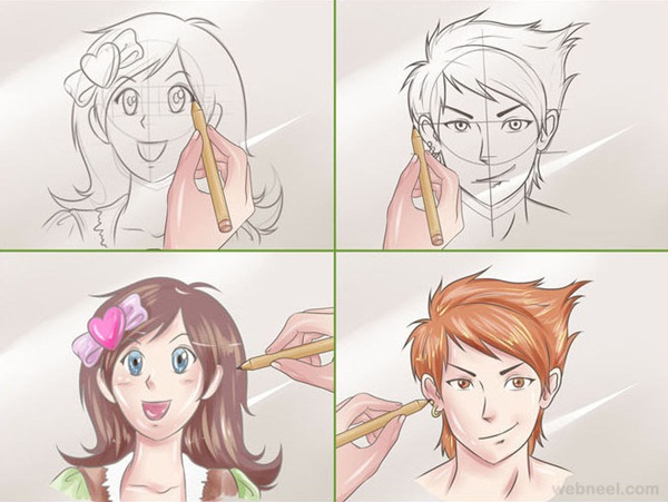 How To Character Design Anime : How to draw anime characters step by examples