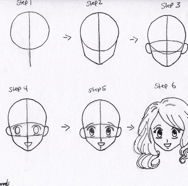 How To Draw Anime Characters Step By Step 30 Examples