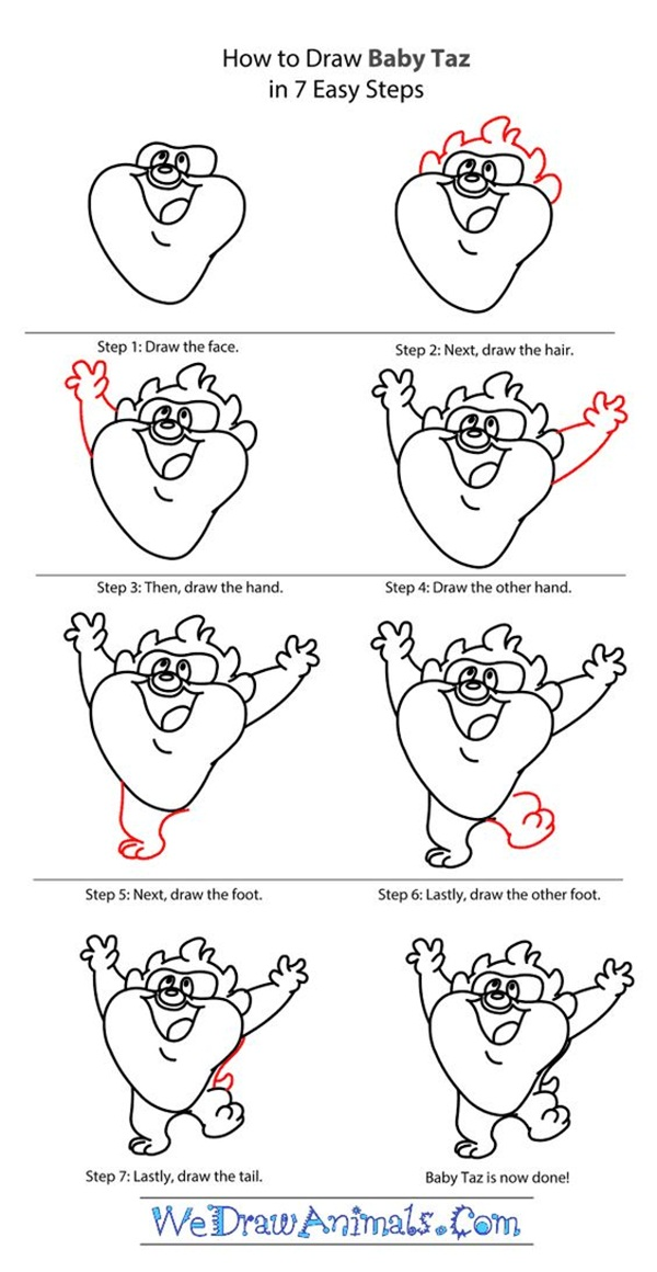 Cartoon Characters You Can Draw : How to draw cartoon characters step by examples