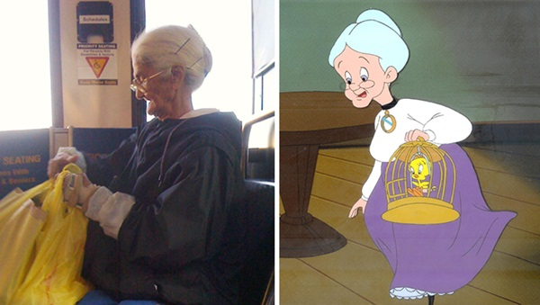 Reel-Life Cartoon Characters and their Real-Life Doppelgangers1