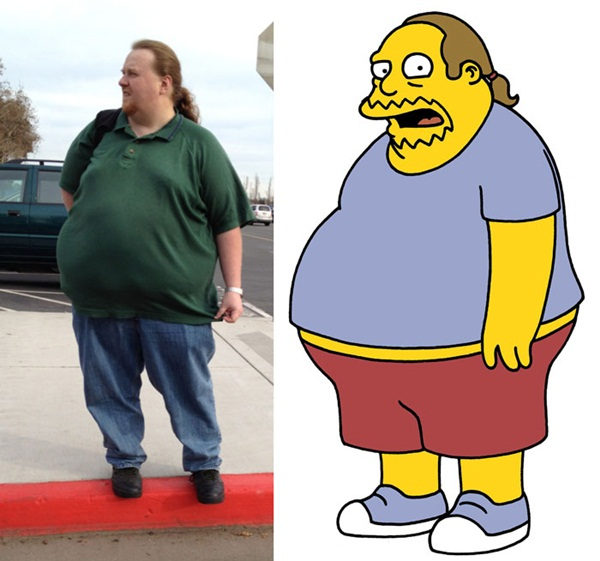 Reel-Life Cartoon Characters and their Real-Life Doppelgangers13