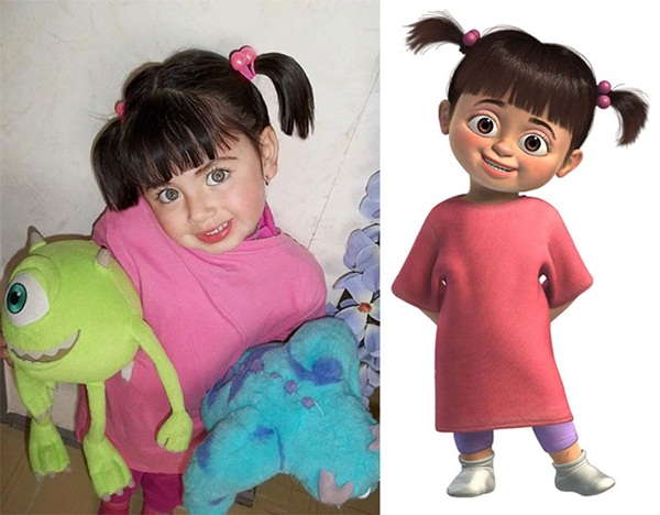 Reel-Life Cartoon Characters and their Real-Life Doppelgangers2
