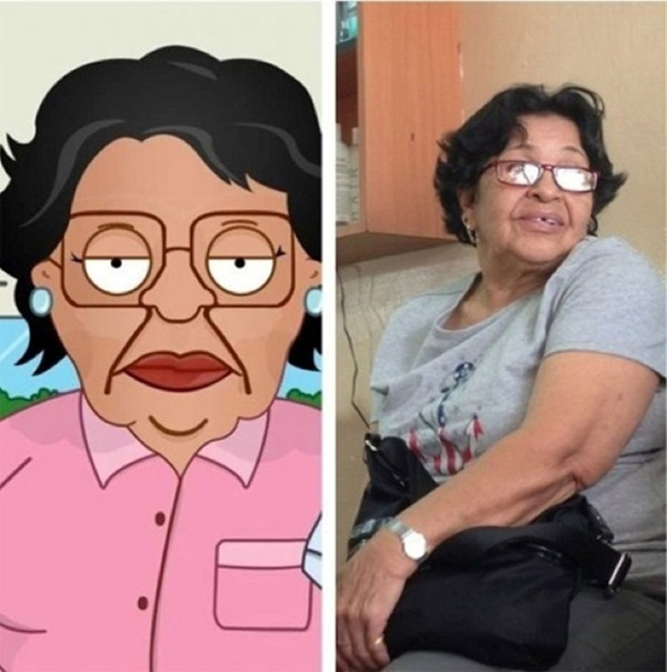 Reel-Life Cartoon Characters and their Real-Life Doppelgangers20
