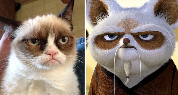 Reel-Life Cartoon Characters and their Real-Life Doppelgangers6