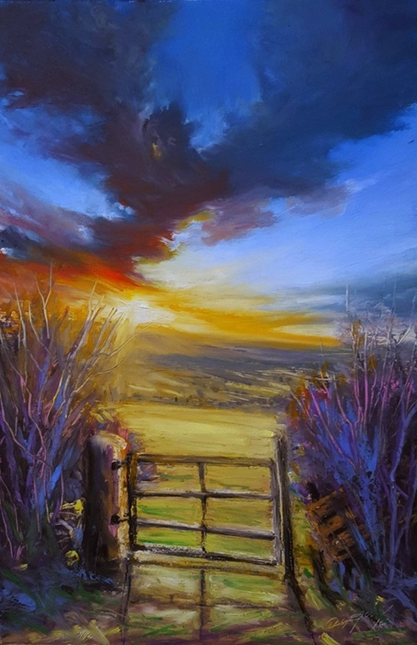 42 easy oil pastel drawings and painting ideas for Simple oil painting ideas