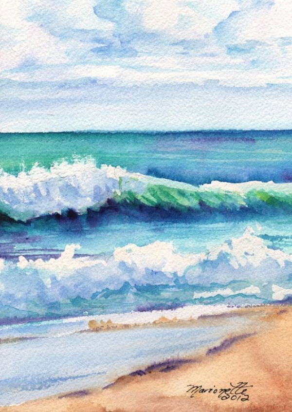 100 easy watercolor painting ideas for beginners On ocean watercolor painting