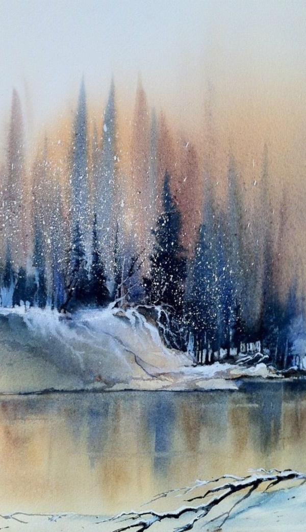 60 easy watercolor painting ideas for beginners for Watercolor scenes beginners
