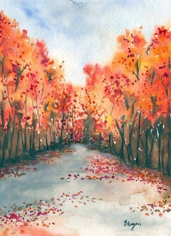 80 easy watercolor painting ideas for beginners for Watercolor ideas easy