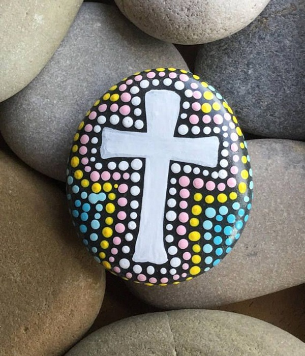 Religious Flat Acrylic: 45 Easy Rock Painting Ideas For Kids To Try