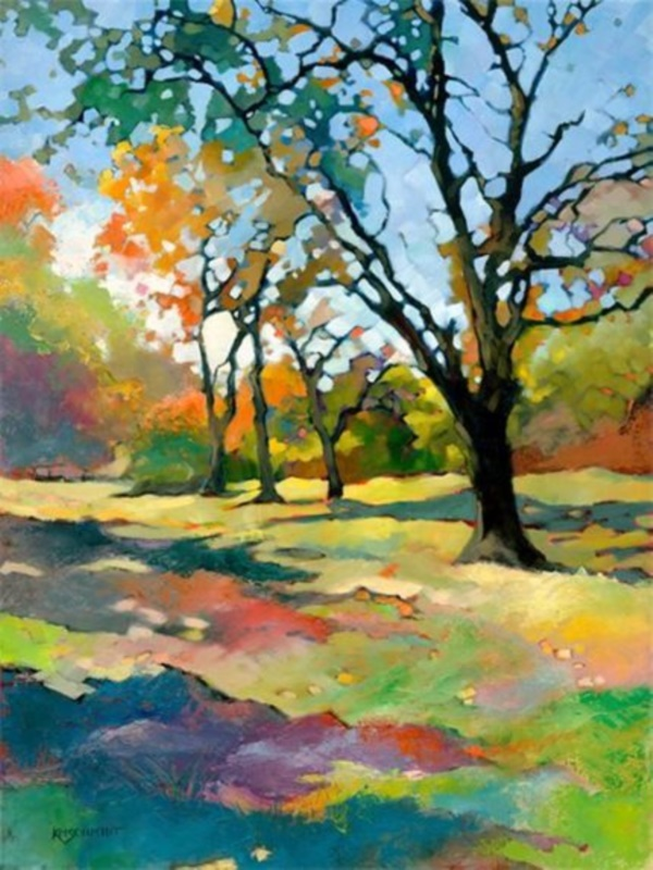 42 easy landscape painting ideas for beginners for Fall paintings easy