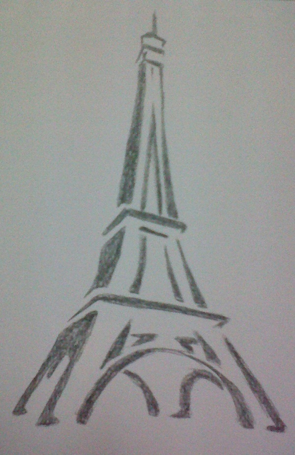 42 so beautiful eiffel tower drawing and sketches to try for Good but easy things to draw