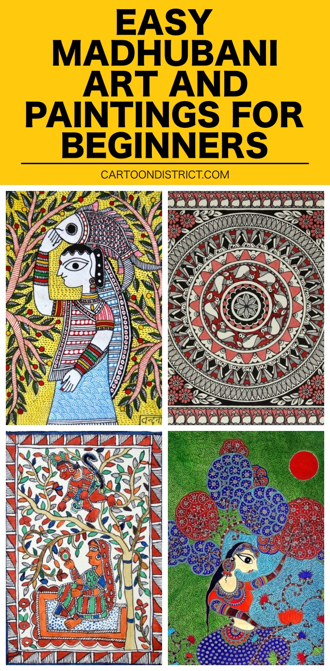 Easy Madhubani Art and Paintings for Beginners