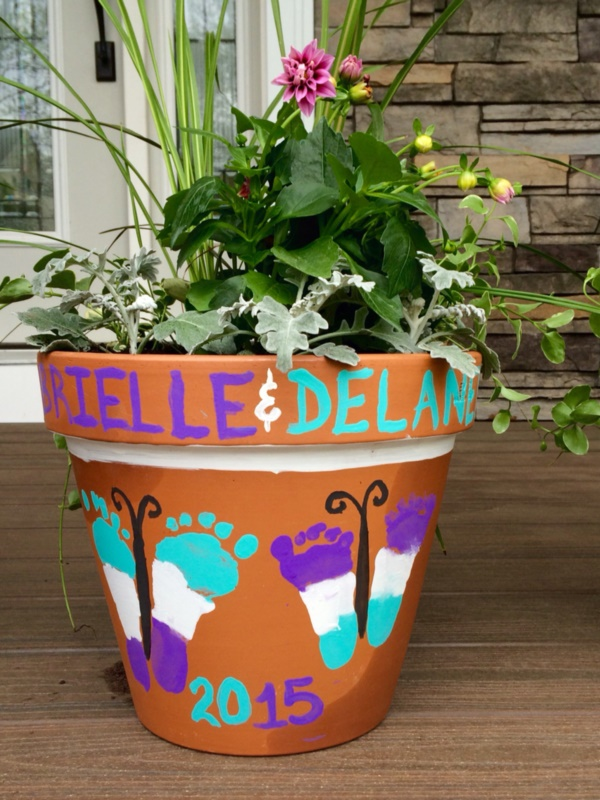 Baby Pictures In Flower Pots
