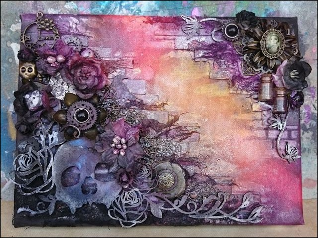 40 artistic mixed media art and painting on canvas for Mixed media canvas art ideas