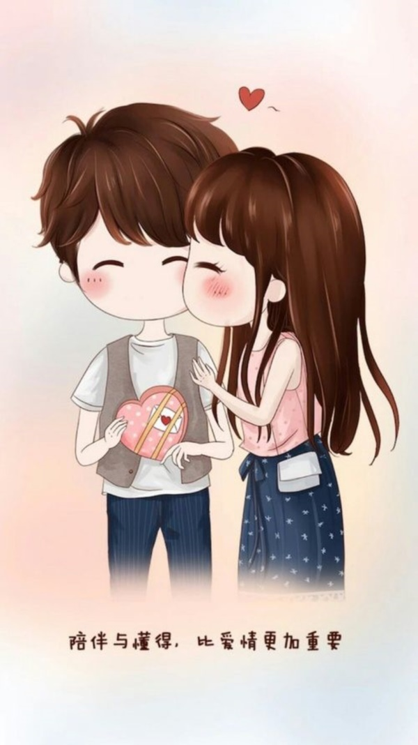 60 cute cartoon couple love images hd - Cartoon girl images hd ...