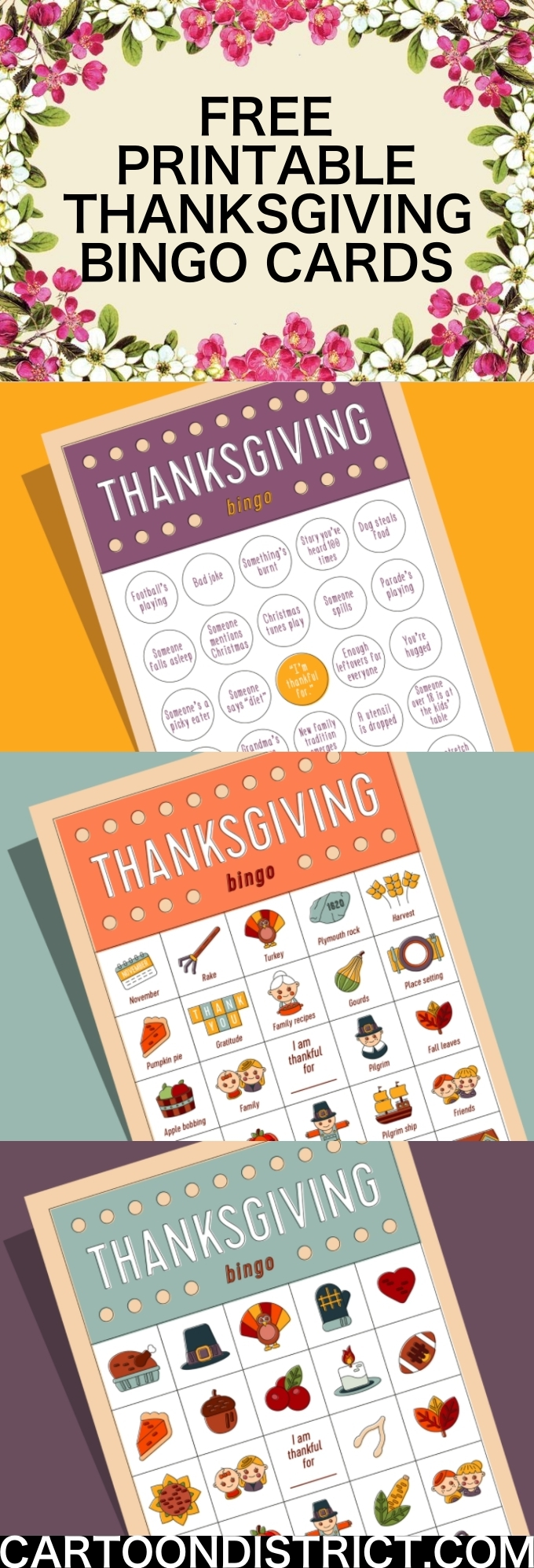 Free Printable Thanksgiving Bingo Cards for Kids and Adults