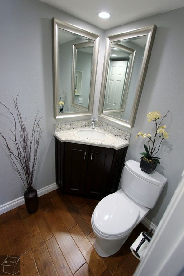 22 small bathroom ideas on a budget for Small half bathroom ideas on a budget