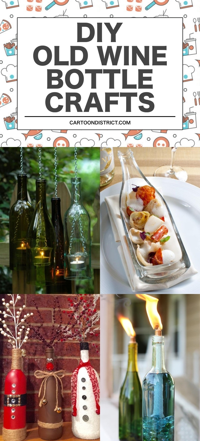 DIY OLD WINE BOTTLE CRAFTS