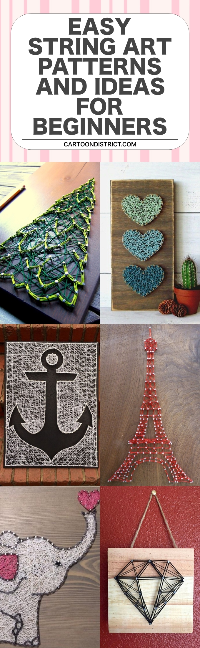 Easy String Art Patterns and Ideas for Beginners