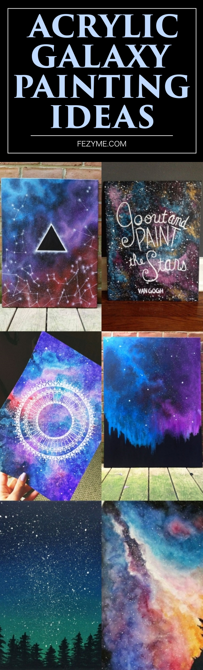 Acrylic Galaxy Painting Ideas
