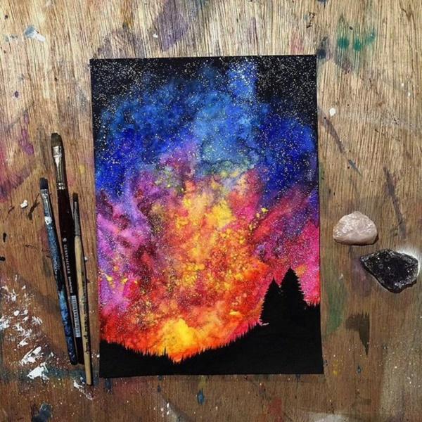 30 Startling Acrylic Galaxy Painting Ideas