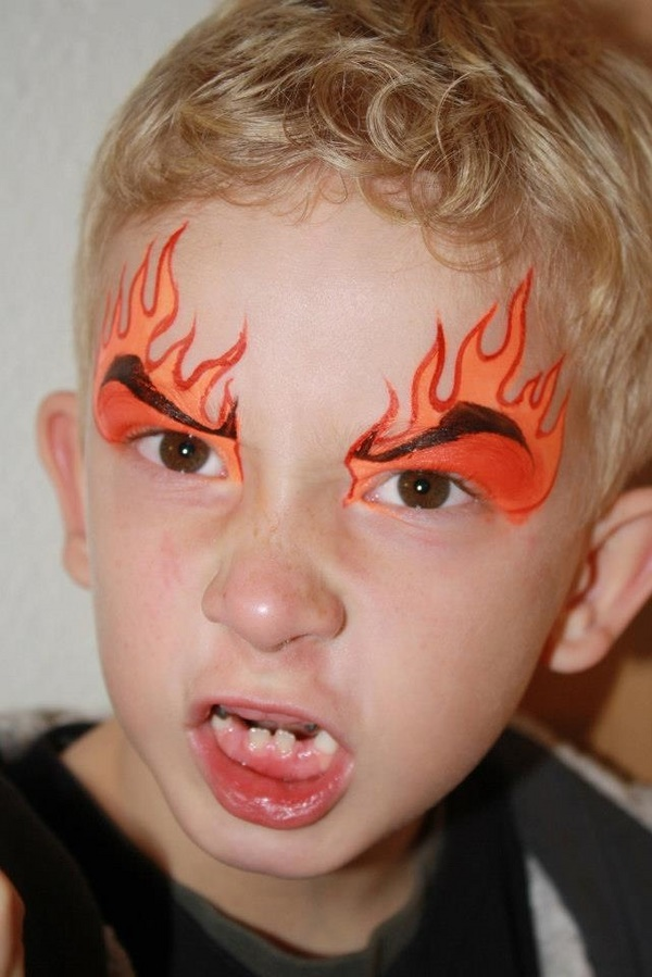 Simple Face Paint Dragon